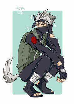 I can't decide whether I like neko kakashi or puppy kakashi better