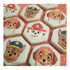 Paw Patrol Cookies Decorated Cookies, Paw Patrol, Christmas And New Year, Cookie Decorating, Sugar Cookies, Period, Christmas Decorations, Birthday, Desserts