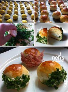 Pastane Usulü Mini Sandviç Turkish Pastry Recipe, Turkish Recipes, Easy Cake Recipes, Lunch Recipes, Pastry Recipes, Cooking Recipes, Mini Sandwiches, Tea Time Snacks, Iftar