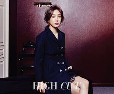 Actress Jung Ryeo Won looks incredibly elegant in her new pictorial for 'High Cut,' showing off the trendy lip colors for the 2016 F/W, which will be … Jung Ryeo Won, Korean Entertainment News, Spring Looks, Korean Actresses, High Cut, Up Styles, Asian Style, Celebrity Crush, Her Style