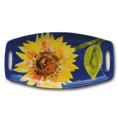MB1163 Flower - This was a pottery camp project and one of the most copied designs.  Sunflowers are bursting with color this hot summer!