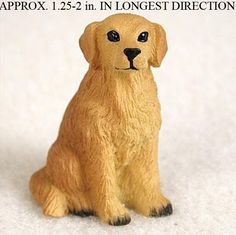 Golden Retriever Mini Resin Hand Painted Dog Figurine Statue Hand Painted available at www.DogLoverStore.com