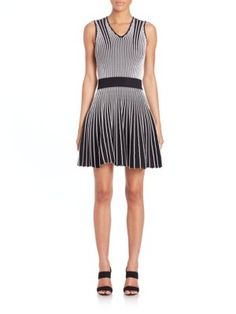 OPENING CEREMONY Striped A-Line Dress. #openingceremony #cloth #dress