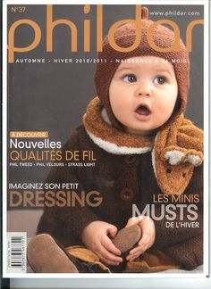 Phildar baby - ok Knitting Books, Crochet Books, Knitting For Kids, Lace Knitting, Crochet For Kids, Crochet Baby, Knit Crochet, Knitting Designs, Knitting Projects