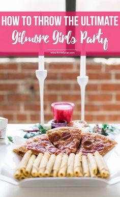 How to throw the ultimate Gilmore Girls revival watch party! This guide includes a menu for desserts, drinks & epic party decor. // thinkelysian.com