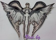 Machine embroidery - angels