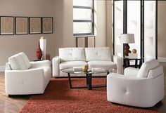 White couch + love the colors