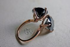 rose gold vermeil conjoined sparrow claw ring