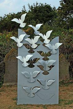 Laser-cut bird sculpture, from TLC: