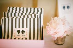 stripe + silhouettes... so cute!