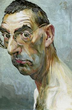 Johannes Grützke –Ungeschönter Blick in den Spiegel: Selbst, 1995, Öl auf Leinwand, 60x40 cm   Stadtmuseum Berlin