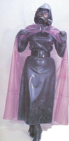 Gwen dressed for rain