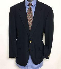 HART SCHAFFNER MARX JACK NICKLAUS Navy Blazer 44R | 2 Button Sport Coat #HartSchaffnerMarx #TwoButton