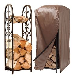 Indoor/Outdoor Montebello Log Rack And Cover