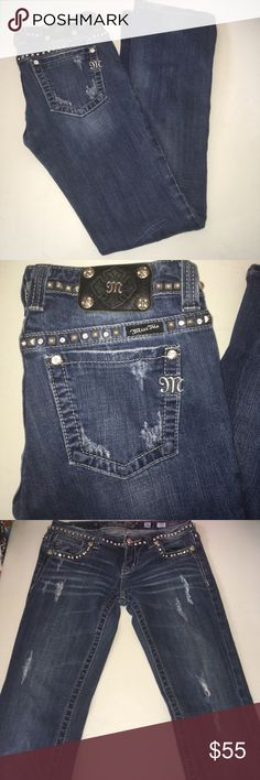 "Miss Me boot cut Jeans size 26 EUC Miss Me boot cut Jeans size 26 EUC inseam 33"" Miss Me Jeans Boot Cut"