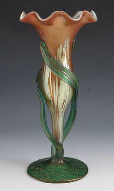 Loetz Art Nouveau Iridescent Glass Vase