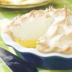 Mile-High Lemon Meringue Pie  - my version- double the Lemon filling and toss on some whip cream
