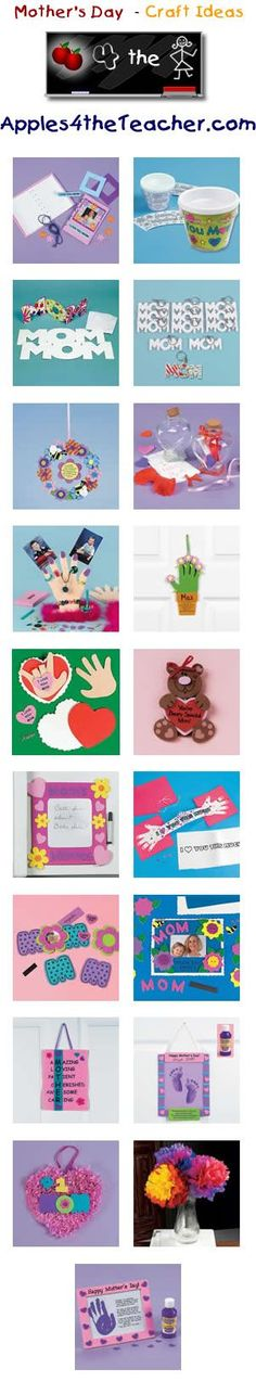 Fun Mothers Day crafts for kids - Mother's Day craft ideas for children.   http://www.apples4theteacher.com/holidays/mothers-day/kids-crafts/: