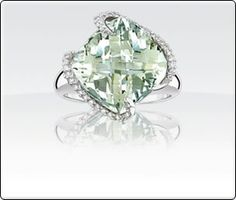 Green Amethyst & Diamond Ring <3