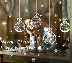 Купить Рождественский снег мяч разместить Новый Год украшения стекла и другие товары категории Наклейки на стену в магазине My shop 333 Store на AliExpress. стекла конфиденциальности и оконное стекло жалюзи
