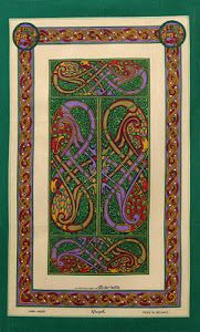 Book of Kells tea towel, how fabulous is this? From rachelgaffney.blogspost.com