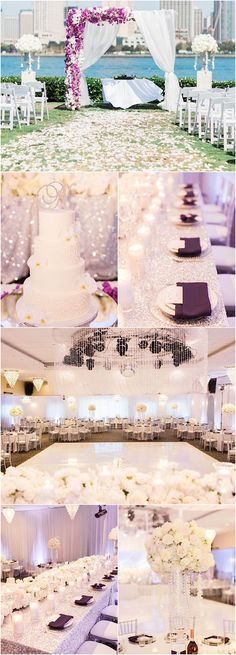 Featured Photographer: Koman Photography; glamorous wedding reception and ceremony details