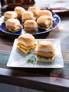 Get Ham, Apple and Cheddar Sliders Recipe from Food Network
