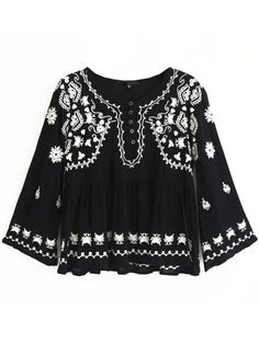Fashion Pioneer with more than 200000 different style of clothes lower than average market price, offering Great customer service and shopping experience. Hipster Outfits, Boho Outfits, Cute Blouses, Blouses For Women, Online Blouse Shopping, Trendy Fashion, Boho Fashion, Sexy Blouse, Embroidered Clothes