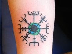 Nordic sea compass done by Anne at Peekaboo Tattoo in Portland, ME