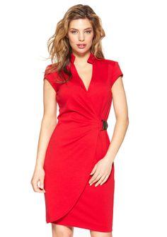 ideeli | SHARAGANO Petite V-Neck Ponte Wrap Dress