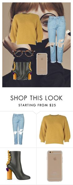"""RVU"" by elisaelly23 ❤ liked on Polyvore featuring Topshop, 3.1 Phillip Lim, Marco de Vincenzo, Agent 18 and Masunaga"