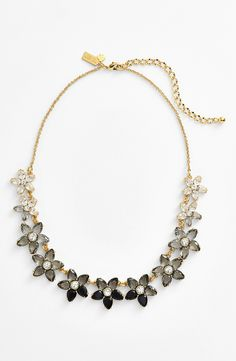 Smitten by this sparkly Kate Spade 'ombré bouquet' crystal collar necklace.