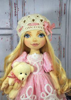 Textile doll decorative doll collector dolls ag doll by NilaDolss