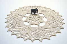 """Philippa"" (24 rounds) #crochet #doily #pattern"