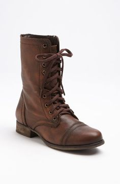 Steve madden troopa brown boot Small scratches on front toe, but goes  unnoticed because the boot is supposed to look rustic Steve Madden Shoes  Combat & Moto ...