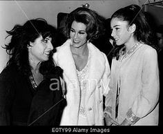 Download this stock image: Actresses Anna Magnani and Linda Christian at theatre - E0TY99 from Alamy's library of millions of high resolution stock photos, Stock Photo, illustrations and vectors.