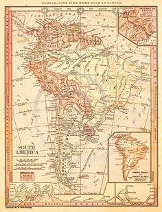 Print circa 100 years old Map of Uganda x
