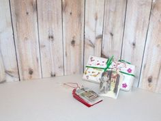 Butterflies In The Attic: 8 Christmas Gift Tags - Miniature Postcards and Hand Stamped - Gift Wrap REFNO.11.13.26