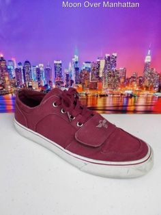 d1607e97abd Creative Recreation Cesario maroon canvas sneakers Mens Tennis Shoes sz 9.5  M #CreativeRecreation #FashionSneakers