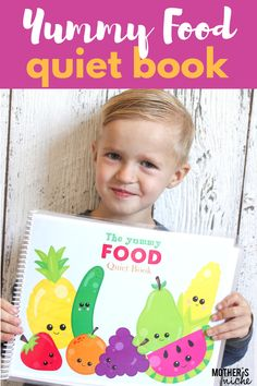 Yummy Food Quiet Book! Learning skills with the cutest little food ♥