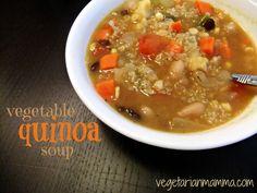 vegetable quinoa soup (#glutenfree & #vegan) via vegetarianmamma.com