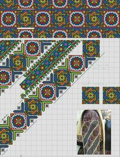 Folk Embroidery, Cross Stitch Embroidery, Cross Stitch Patterns, Bargello Patterns, Bohemian Wall Decor, Loom Bracelet Patterns, Cross Stitch Rose, Geometric Designs, Loom Beading