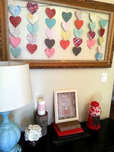 Valentine heart garland how to