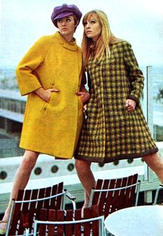 Sixties fashion at Schiphol Airport Amsterdam, 1967
