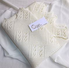 This blanket can be worked in any thickness of yarn, and to whatever measurement you require the finished blanket/afghan to be. Would also make a very simple, yet elegant prayer shawl or Christening shawl.