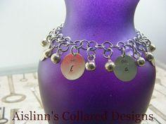Slave Bell Charm Bracelet by aislinnscollared on Etsy