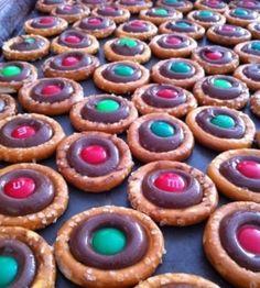 Pretzel chocolate rings!