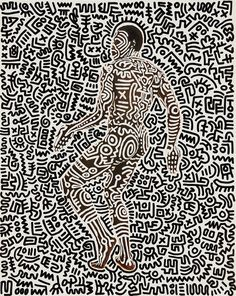 A signature Haring piece demonstrates his early '80s collaborations with choreographer Bill T. Jones.