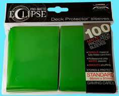100 Count Pack Ultra Pro Matte Eclipse Lemon Yellow Standard Deck Protector Sleeves