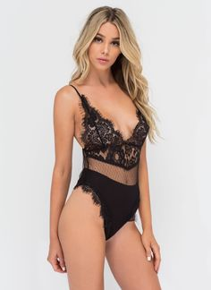 Delicate Situation Sheer Lace Bodysuit #sheer #bodysuit #lace #gojane
